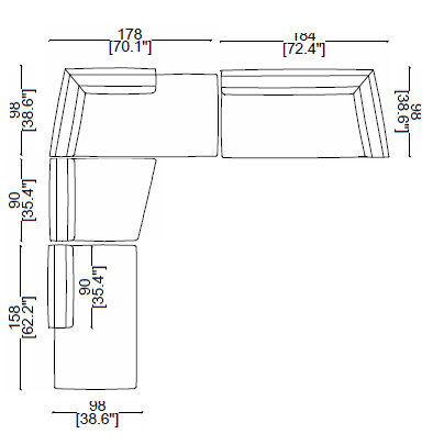 291 dress-up sectional dims