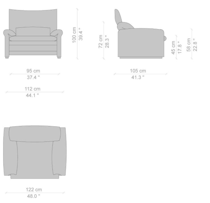 675 maralunga maxi armchair dims